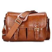 Photo de luxe appareil Photo élégant mode rétro étui en cuir PU sac à main étanche épaule messager DSLR sac pour Canon Nikon Sony L