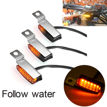 For Harley Davidson Cafe Racer Choppers 2PCS Flowing Emark Mini LED Motorcycle Turn Signal Light Brake Clutch Lever Flashers автомобиль на радиоуправлении kidztech mini racer