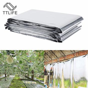 TTLIFE srebrna roślina hydroponiczna wysoce odblaskowa folia mylarowa rosną akcesoria oświetleniowe szklarnia odbicie maszyna powlekająca okładki tanie i dobre opinie Papier 210cmX120cm Mylar Film Silver Plant Reflective Film