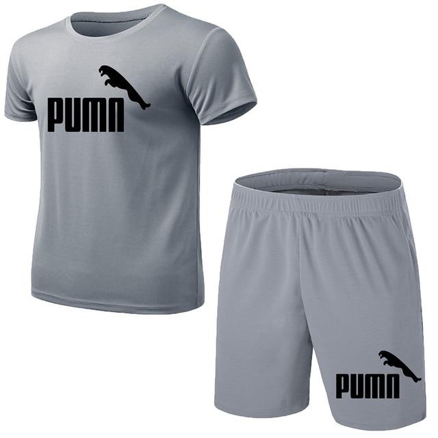 GRRCEECmen's sports coat set sport shirt men running shorts 2pcs gym suit for soccer fitness men sportswear t-shirts sets 2