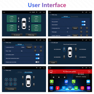 Image 5 - USB Android TPMS Tire Pressure Monitoring System Display 5V 4 Internal Sensors Android Navigation Car Radio Summer/Winter Tire