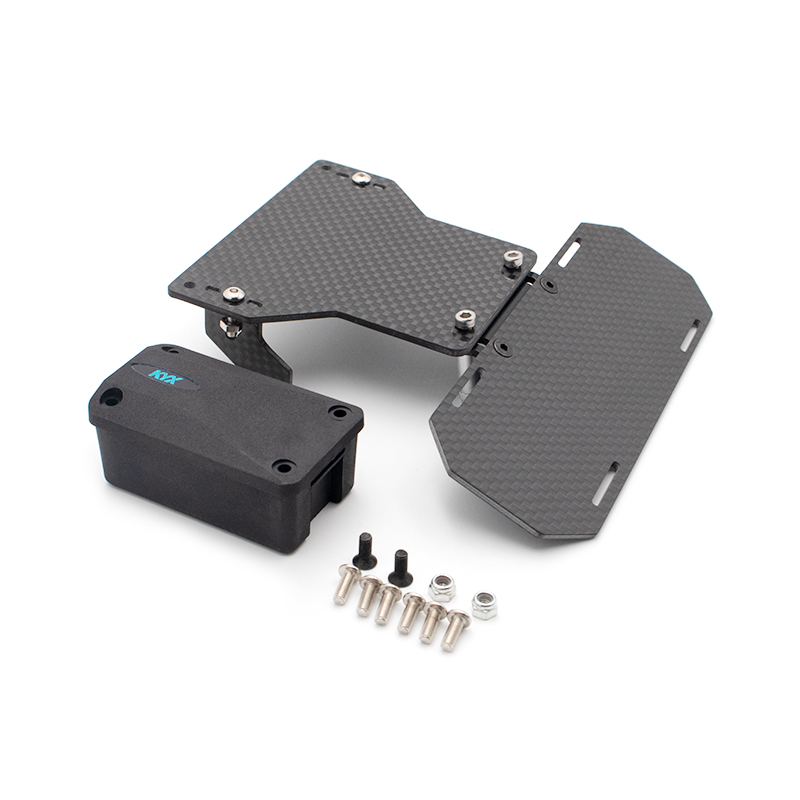 KYX Racing Carbon Fibre Modified Forward Battery Tray Set DIY Upgrades For RC Crawler Car Axial SCX10 90046 90047