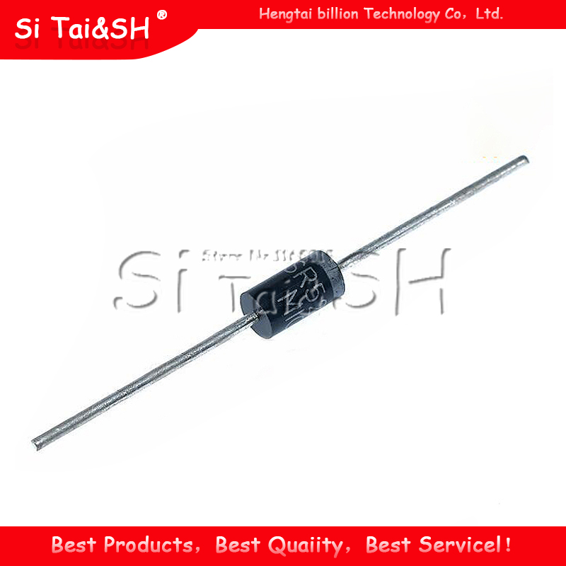 100PCS <font><b>SB5200</b></font> SR5200 Schottky Barrier Rectifier Diode 5A 200V DO-201AD/DO-27 image