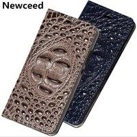 Crocodile Pattern Genuine Real Leather Flip Phone Cover For Huawei Nova 3/Huawei Nova 3i/Nova 3e Pouch Case Bag Standing Capa