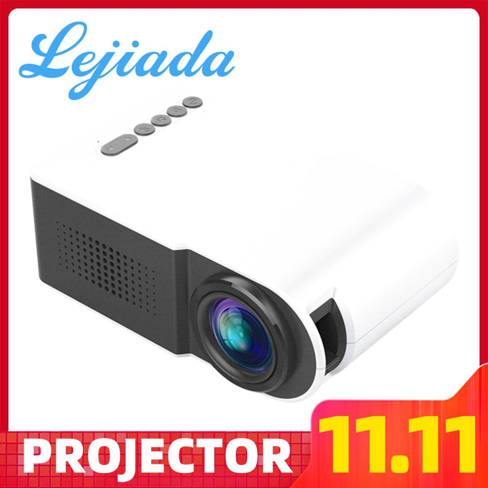 LEJIADA YG210 LED Mini projecteur Portable 600 lumen 3.5mm Support Audio 1080p HD lecture HDMI USB projecteur accueil lecteur multimédia
