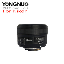 YONGNUO YN35mm F2.0 F2N объектив AF/MF Фокус объектив для Nikon F крепление D7100 D3200 D3300 D3100 D5100 D90 DSLR камера аксессуары