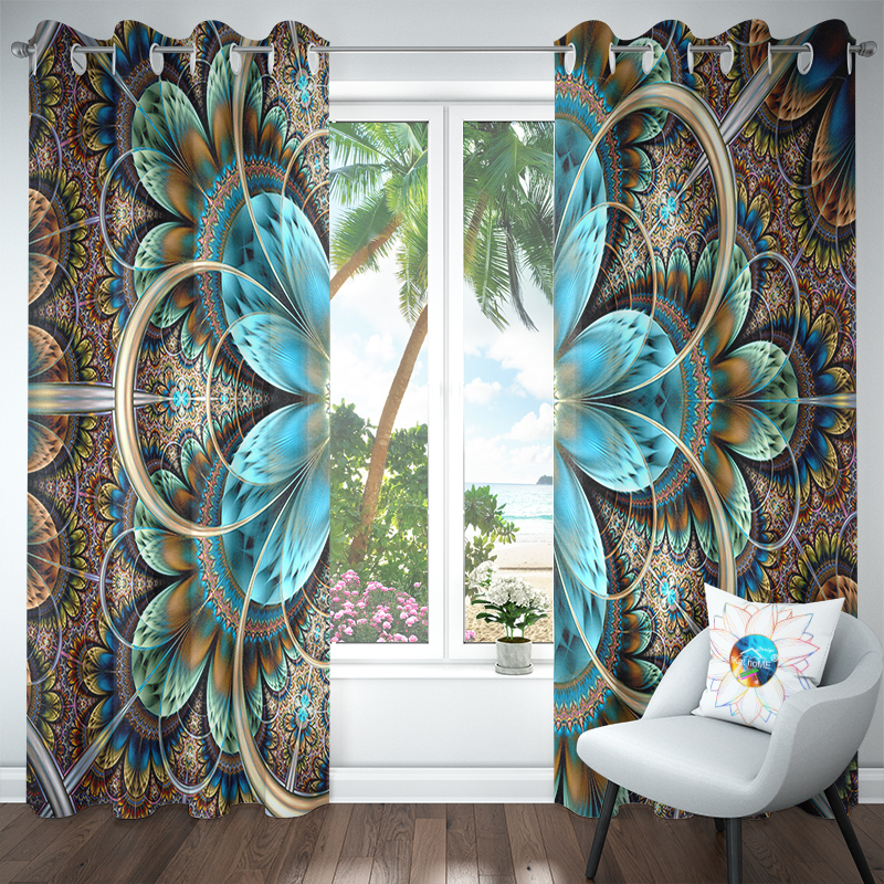 Bohemian Mandala Curtains For Living Room Blackout Window Curtain Bedroom Luxury Waterproof 3d Room Outdoor Curtains Gordijnen in Curtains from Home Garden