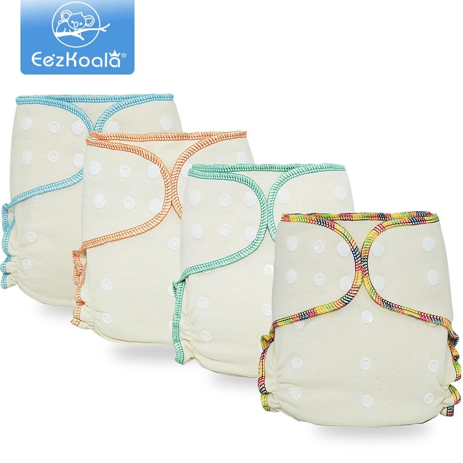 EezKoala экологичный Гибридный подгузник, многоразовый ночной подгузник AIO & AI2, детский подгузник, моющийся подгузник из конопляного хлопка