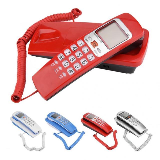 Telefono 유선 전화 FSK/DTMF 발신자 ID 전화 유선 전화 책상 벽 마운트 유선 연장 전화 집에 넣어
