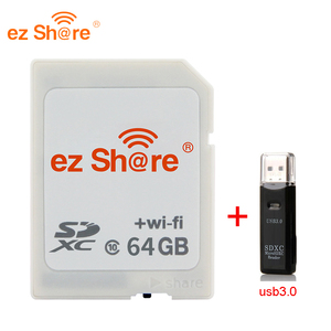 Image 3 - 2019 New 100% original Real Capacity Ez Share Wifi Sd Card Memory Card reader 32G 64G 128G C10 for Camera free Shipping