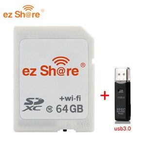 Image 3 - 2019 neue 100% original Reale Kapazität Ez Teilen Wifi Sd Karte Speicher kartenleser 32G 64G 128G c10 für Kamera freies Verschiffen