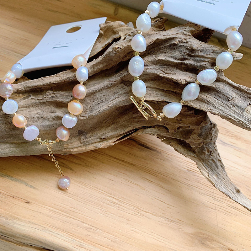Real Natural Freshwater Baroque Pearl Bracelets Fashion Mixed Color Irregular Pearl Beads Chain Bracelets Women Wedding Party