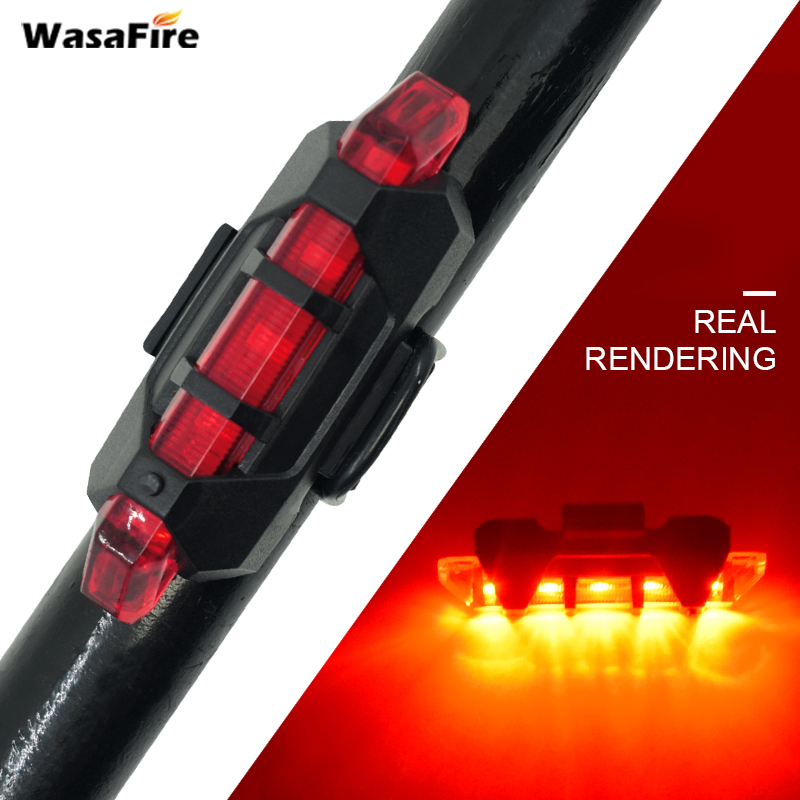 USB LED Bike Tail Light Lantern Recharging Bicycle Rear Back Lamp 4 Modes Safety Warning Flashlight + Silicone Cycling Taillight