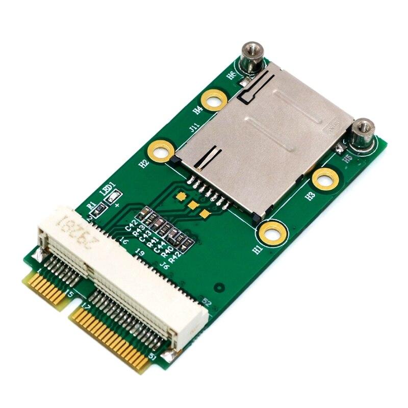 New Mini PCI Express Adapter for 3G 4G Module with USIM Slot MINI PCI E To Mini PCI E Riser Card Support 3G/4G WWAN LTE GPS Card|AC/DC Adapters|   - title=