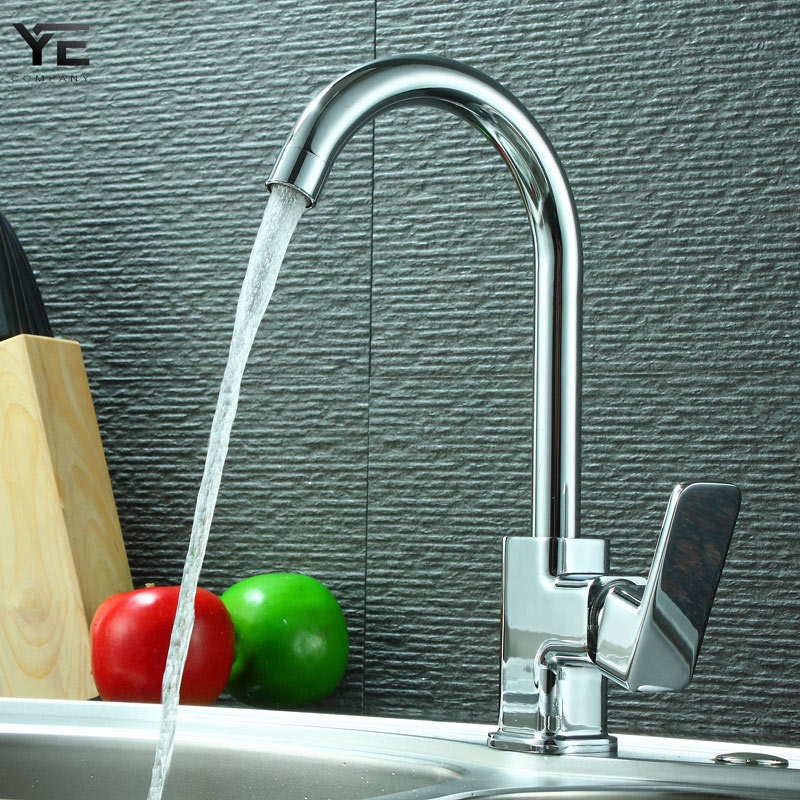 Kitchen faucet 360 degree rotary stainless steel kitchen sink faucet single handle cold and hot water mixed sink faucet 0013