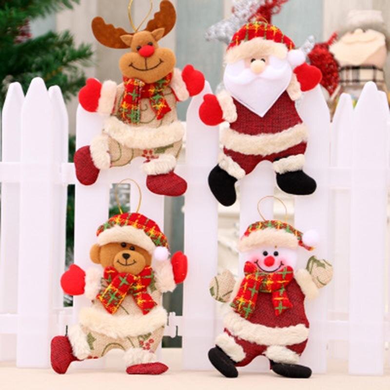 Appeso Decorazione Ornamento Pendente Bambola Carino Accessori per Albero di Natale a Casa Colgante De Navidad Ciondolo di Natale H99F