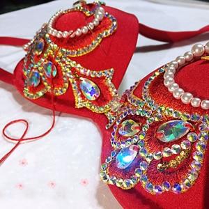 Image 5 - Ai Cập Chuyên Nghiệp múa bụng Áo + Váy + + Tặng Quần Lót Nữ Phương Đông Vũ Điệu Phù Hợp Với Múa Bụng Trang Phục Deluxe vũ điệu Đầm