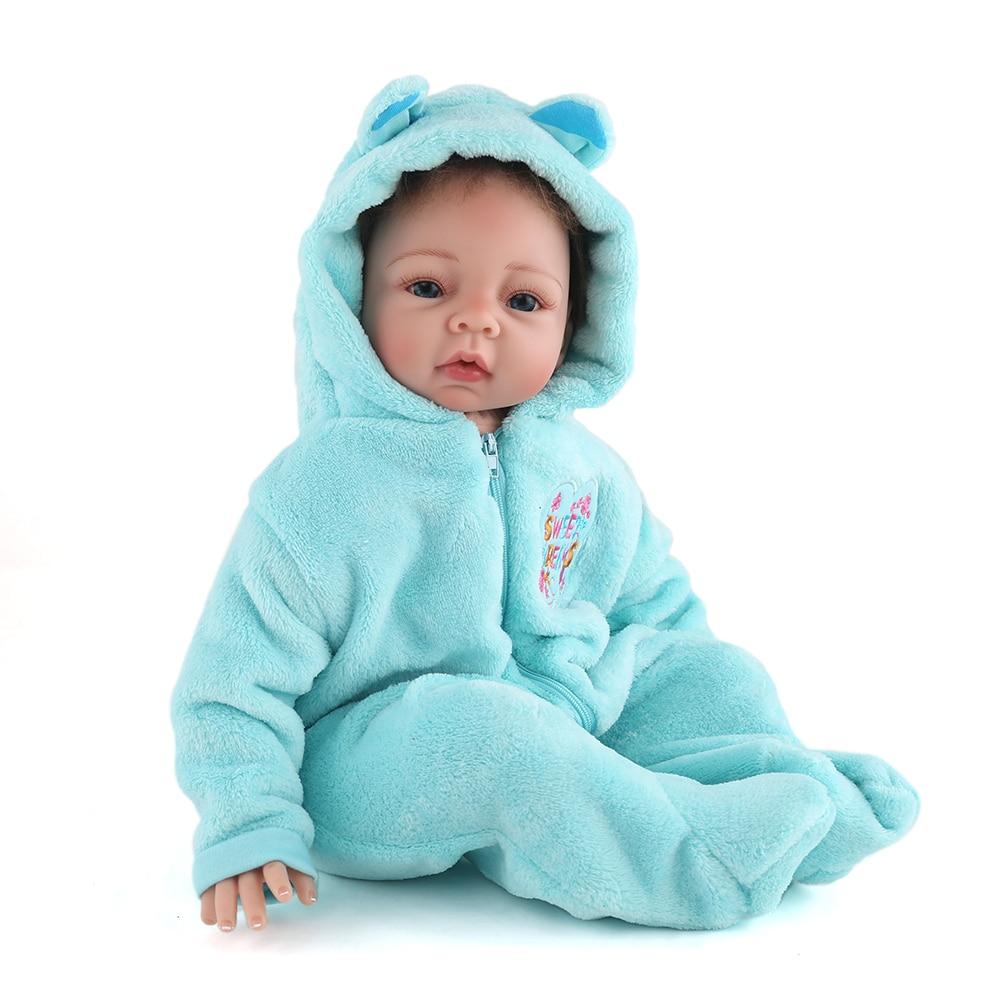 NPK DOLL Reborn Baby Doll Realistic Newborn Girl 22 Inch Very Soft Silicone Lifelike Really Infant Beautiful Kids Playmate
