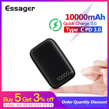 Essager 10000mAh Mini Power Bank 10000 Quick Charge 3.0 Powerbank For iPhone 11 Pro Max USB PD Portable External Battery Charger
