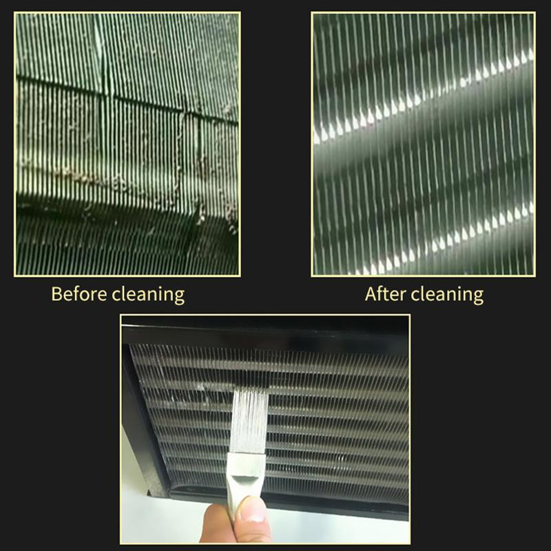 Image 3 - Air Conditioning Fin Comb Condenser Cleaning Comb Fin Comb Brush For Air Conditioner Blade Cooling Straightening Cleaning Tool-in Brush from Tools