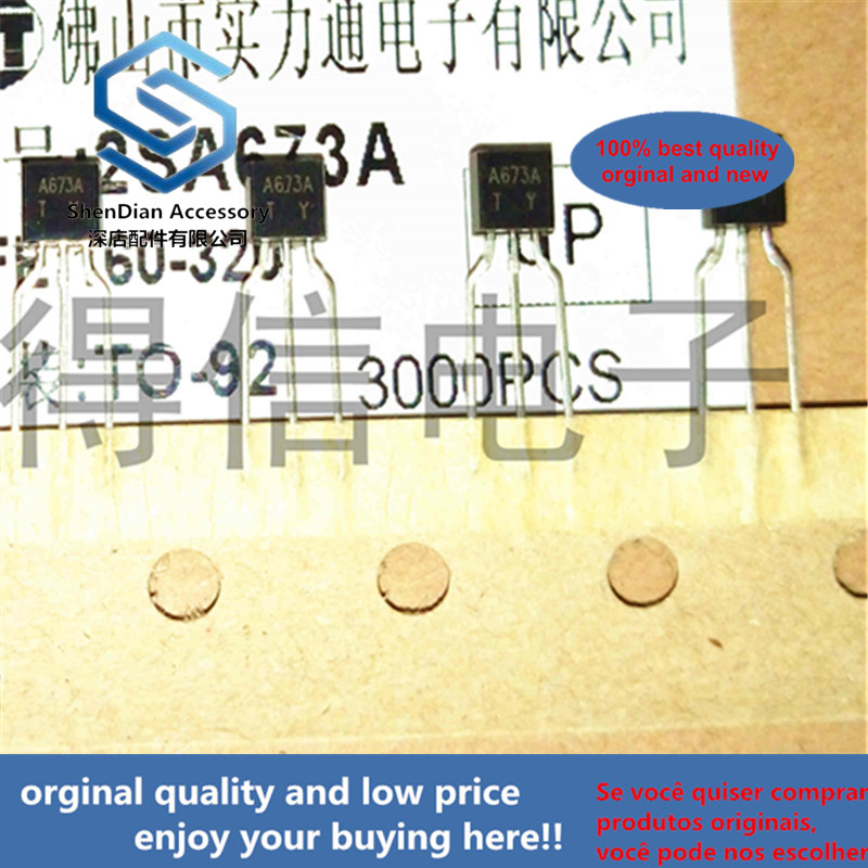 30pcs 100% Orginal New 2SA673A A673 TO-92 Silicon PNP Epitaxial Real Photo
