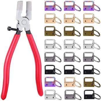 Brelok do kluczy 50 szt 1 Cal kółko do kluczy ze szczypcami narzędzie do zacisków do kluczy tanie i dobre opinie Xzante CN (pochodzenie) Metalworking