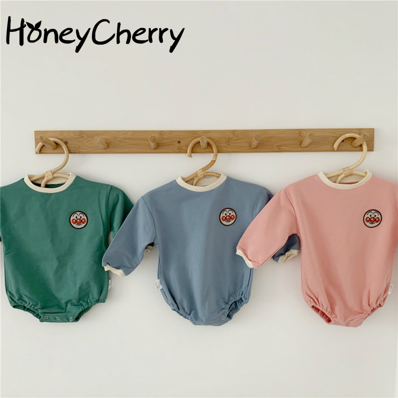 860.0¥ 14% OFF Newborn Bodysuits Infants Crawl Into Children's Clothes Cute Toddler Baby Girl Flora...