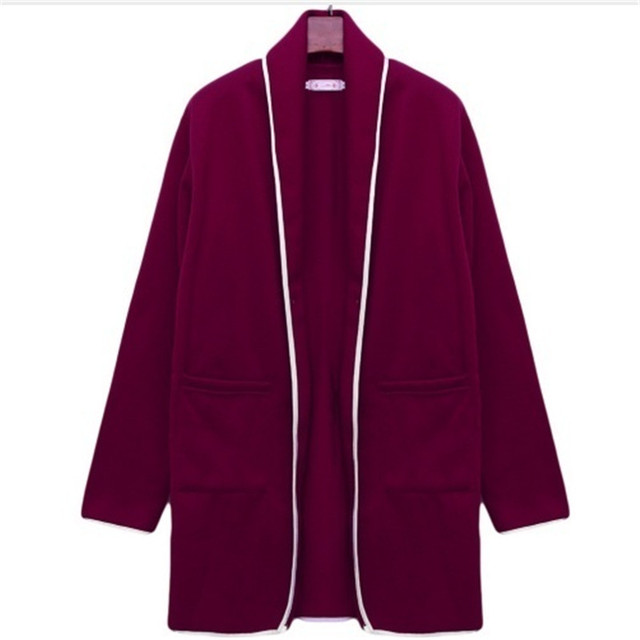 2021 Autumn Winter Long Cardigan Female Casual Women Pocket Cardigan Sweater Knitted Cardigans All-match For Women Jacket Tops 5