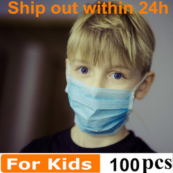 Kids Mask Child face mask Breathable 3 ply face mask Filtration Dust PM2.5 Mouth masks Respirator Disposable
