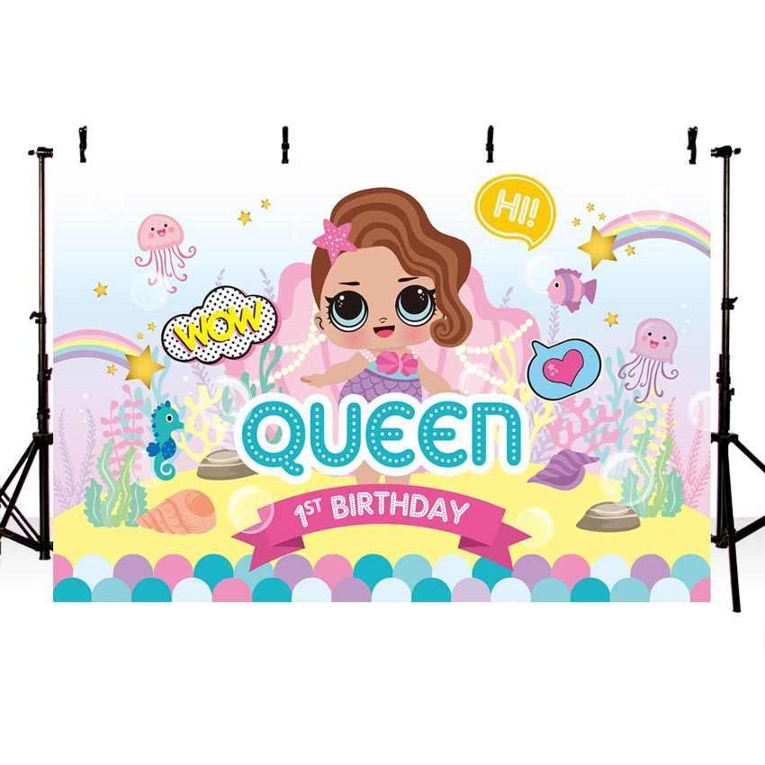 Mehofoto сюрприз Девушки Русалка фон для фотосъемки день рождения партии пользовательское имя года под морской фон для фотостудии