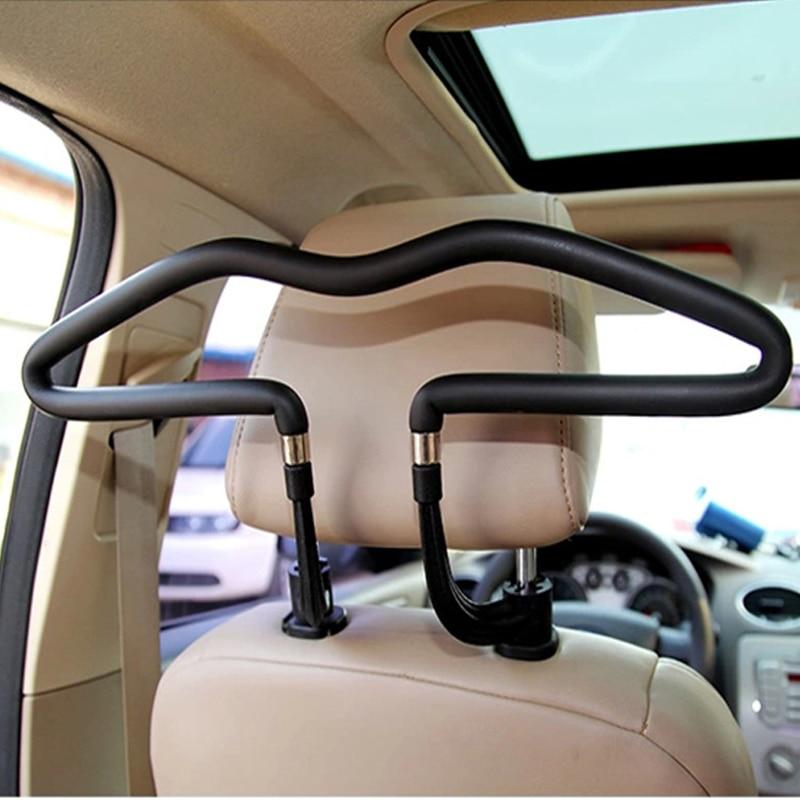 Car Safety Hangers For Coat Jacket Car Coat Hangers Back Seat Headrest Clothes Hanger Safety Handle Hanging Hook Multifunctional