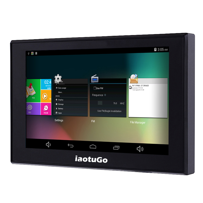 IaotuGo 5 zoll Kapazitiven Android GPS Auto GPS navigator MTK8127 Quad Core 8G lagerung 512RAM WIFI Bluetooth AV-IN Navigation
