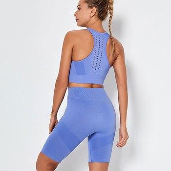 Sports Bra And High Waist Short Fitness Set