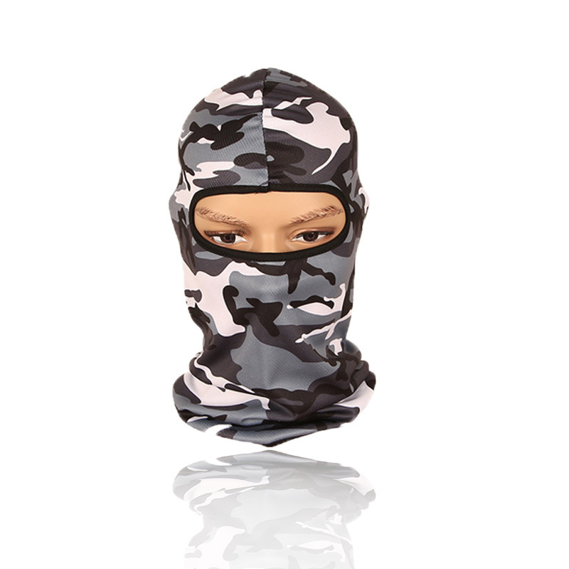 1pc Camouflage Breathable All Season Balaclava Face Mouth Mask Man Women Unisex Outdoor Cycling Mask Black Mask Mouth Head Cover