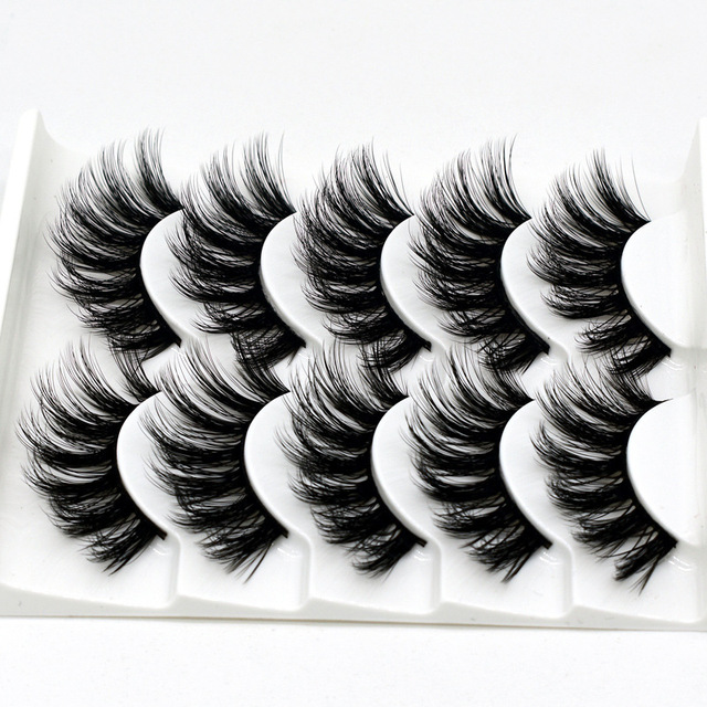 5 pairs of 3D false eyelashes handmade soft mink eyelashes natural thick long eyelashes makeup extension eyelash tool 2