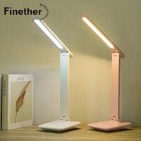 Finether LED Touch LED Tisch Lampe Dimmen Farbe Augenschutz Schreibtisch Lampe USB Aufladbare Lesen Auge-Schützen Led Tisch lampe