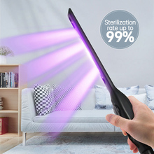 1.8W UV Disinfection Stick Household LED UV Sterilizer Wand Germicidal Lamp 99% Sterilization Rate Kill Germs Bacteria
