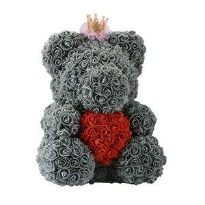 Image 2 - 2020 저렴 한 빨간 곰 로즈 테 디 베어 장미 꽃 인공 장식 생일 크리스마스 선물 여자 발렌타인 선물