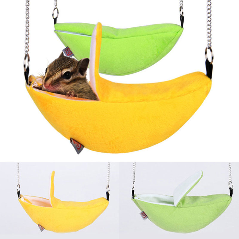 Hamster cotton nest banana Shape House Hammock Bunk Bed House Toys Cage For Sugar Glider Hamster Small Animal Bird Pet Supplies