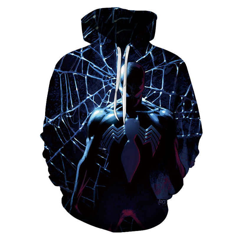 New venom men's hoodie marvel movie 3d 프린트 패션 후드 티셔츠 봄 & 가을 남성 여성 커플 스웨터 풀오버