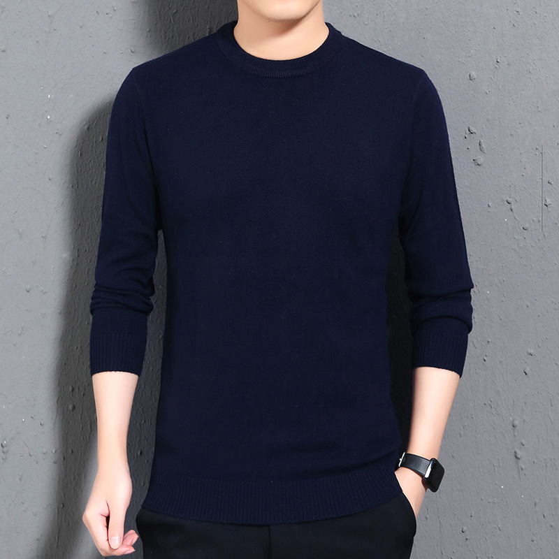 Thin Wool Sweaters Coat Long Sleeve Warm Mens Sweater Large Size Black Gray Red Navy Pullover Top T114