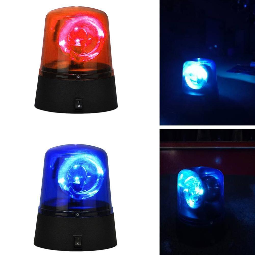 Novelty Rotating Blue LED Police Car Beacon Disco Party DJ Light Lamp Lights
