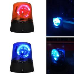 Novidade rotativa azul led carro da polícia beacon disco festa dj luz da lâmpada luzes