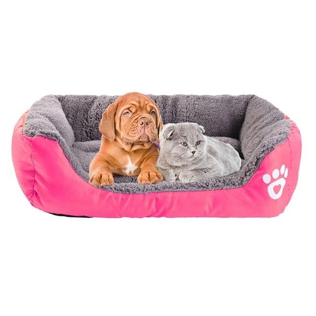 (S-3XL) Large Pet Cat Dog Bed 8Colors Warm Cozy Dog House Soft Fleece Nest Dog Baskets Mat Autumn Winter Waterproof Kennel 2