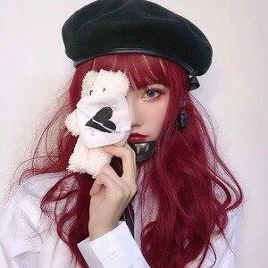 Image 5 - Harajuku fivela ajustável feminino boina preta nova menina pintor chapéu