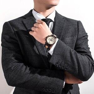 Image 3 - レロジオmasculinoボボ鳥の木製腕時計メンズトップブランドの高級スタイリッシュなクロノグラフ軍事腕時計木製ボックスリロイhombre