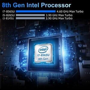 Image 3 - Mini PC Intel Core i7 8565U i5 8265U 8. generacji Procesor 2 * DDR4 M.2SSD HDMI DP 4K 60fps 6 * Okno USB Type C WiFi 10 8 Komputer HTPC Nettop i3 8145U Komputery stacjonarne Przemysłowe USB3.0 USB2.0 Micro MINIPC cienk