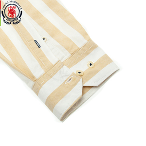 Image 4 - Fredd Marshall 2019 Herfst Nieuwe Mannen Gestreept Overhemd Casual Soical Lange Mouwen 100% Katoenen Shirts Camisa Masculina Homme Tops 221