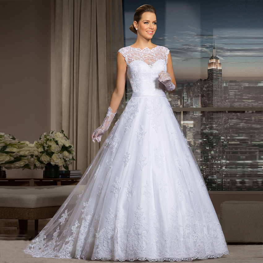 Vestido De Noiva Cheap Sexy Lace Ball Gown 2018 See Through Back Vestido De Noiva Vestido Casamento Mother Of The Bride Dresses