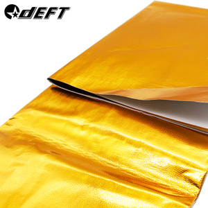 DEFT 100x100cm Self Adhesive Reflective Gold High Temperature Exhaust Heat Shield Wrap Tape Insulation Stickers Car Styling
